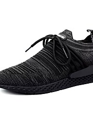 cheap -Men's Shoes Knit Spring Fall Comfort Athletic Shoes Walking Shoes Lace-up For Casual Gray Black