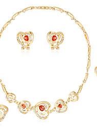 Women's Stud Earrings Necklace Crystal Rhinestone Luxury Fashion Party Crystal Rhinestone Drop Necklace Earrings Bracelets Ring