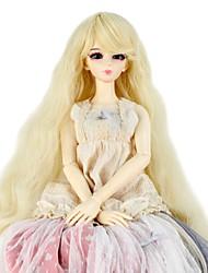 Ženy Syntetické paruky Bez krytky Dlouhý Kinky Curly Blonde Doll paruka Kostýmová paruka