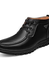 Herren Schuhe Echtes Leder Nappaleder Leder Winter Stiefeletten formale Schuhe Flaum Futter Schneestiefel Modische Stiefel Motorradstiefel