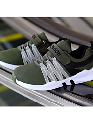 Недорогие -Мальчики обувь Тюль Зима Осень Удобная обувь На плокой подошве Беговая обувь для Черный Серый Военно-зеленный