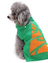 Собака Свитера Одежда для собак Рождество Рождество Новогодняя тематика Зеленый Костюм Для домашних животных