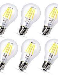 cheap -6pcs A60(A19) 4W COB LED filament Bulbs E27 Warm/Cool White Color Decorative Edison Style Vintage LED Light Bulb AC220-240V