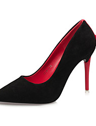 Women's Shoes Fabric Spring Fall Basic Pump Heels Stiletto Heel Pointed Toe Bowknot For Office & Career Party & Evening Red Yellow Gray