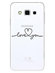 Кейс для Назначение SSamsung Galaxy С узором Задняя крышка Слова / выражения Мягкий TPU для S2 A3 (2017) A5 (2017) A7 (2017) A5(2016) A8