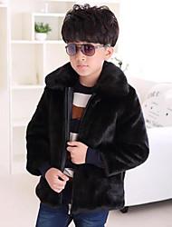 economico -Giubbino e cappotto Da ragazzo Pelliccia sintetica Tipi di pellicce speciali Tinta unita Inverno Manica lunga