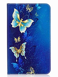 economico -portafoglio portautensili porta carte con farfalla con telaio in cuoio magnetico magnetico per la scheda galassia samsung 8.0 t377 t377v