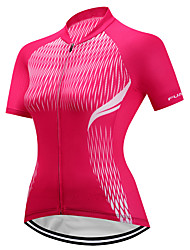 cheap -FUALRNY® Women's Short Sleeve Cycling Jersey - Red Bike Jersey, Quick Dry, Reflective Strips