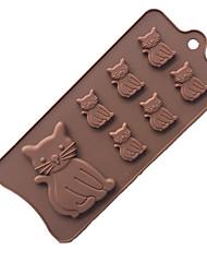 Недорогие -прекрасный котенок котенка 7 полости силиконовой формы для помадной смолы паста шоколад печенье торт инструменты