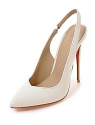 Femme Chaussures Similicuir Automne Confort Nouveauté Chaussures à Talons Bout pointu Pour Mariage Blanc Noir Amande