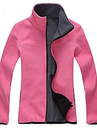 cheap -Men's Women's Hiking Fleece Jacket Outdoor Winter Keep Warm Fleece Winter Fleece Jacket Full Length Visible Zipper Running/Jogging