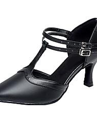 cheap -Women's Modern Leather Leatherette Sandal Heel Indoor Customized Heel Black Customizable