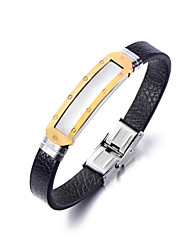 cheap -Men's Women's Leather Bracelet Fashion Leather Geometric Jewelry For Party Daily