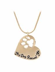 Cane Abbigliamento per cani Primavera/Autunno Da serata Lettere & Numeri Oro Argento Per animali domestici