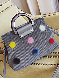 Women Bags PU Velvet Tote Zipper for Shopping Casual All Seasons Black Red Blushing Pink Gray Army Green
