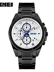 abordables -SKMEI Hombre Cuarzo Reloj de Pulsera Reloj Deportivo Gran venta Acero Inoxidable Banda Encanto Moda Negro