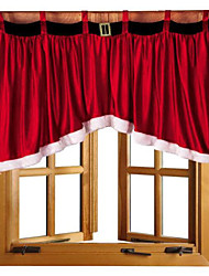 1Pcs 92*160*77Cm Beautiful Door Window Drape Panel Christmas Curtain
