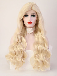 cheap -Synthetic Lace Front Wig Deep Wave Body Wave Natural Hairline Blonde Women's Lace Front Natural Wigs Long Synthetic Hair