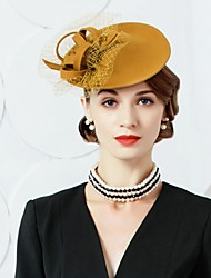 cheap -Wool Tulle Fascinators Hats 1 Wedding Party / Evening Headpiece