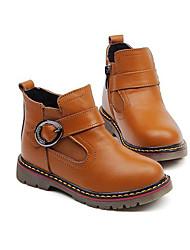 Мальчики обувь Кожа Зима Удобная обувь Армейские ботинки Ботинки Назначение Повседневные Черный Желтый