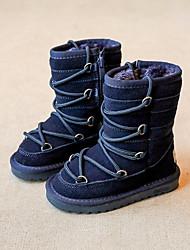 preiswerte -Mädchen Schuhe Leder Winter Schneestiefel Stiefel für Dunkelblau / Grau / Kamel / Booties / Stiefeletten