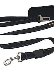economico -Cane Guinzagli Cintura di sicurezza per cani / Imbragatura per auto Riflessivo Tinta unita Nylon Nero