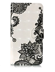 cheap -For iPhone X iPhone 8 Case Cover Wallet Card Holder with Stand Flip Pattern Full Body Case Lace Printing Hard PU Leather for Apple iPhone