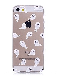 cheap -For iPhone X iPhone 8 Case Cover IMD Transparent Pattern Back Cover Case Animal Soft TPU for Apple iPhone X iPhone 8 Plus iPhone 8 iPhone