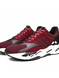 cheap -Men's Shoes Tulle Spring Fall Comfort Athletic Shoes Running Shoes Lace-up For Athletic Burgundy Gray Black