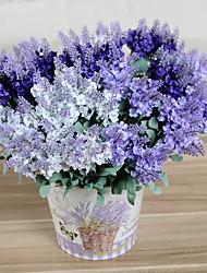 Недорогие -6pc 10 головок искусственный лавандовый шелковый цветок свадебный флористический цветок 3 цвета