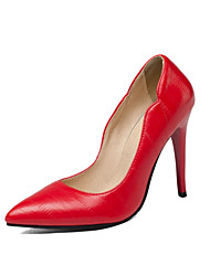 Women's Shoes Leatherette Fall Basic Pump Comfort Novelty Heels Pointed Toe For Wedding Office & Career Light Pink Red Black