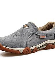 Для мужчин обувь Кожа Весна Осень Удобная обувь Спортивная обувь Для пешеходного туризма Шнуровка Назначение Атлетический Серый Синий Хаки