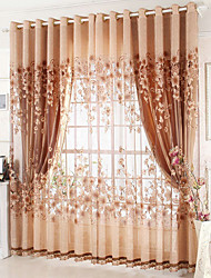 cheap -Blackout Curtains Drapes Living Room Embroidery Embroidery