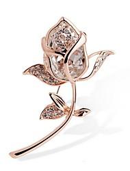 Недорогие -Жен. Кристалл Синтетический алмаз Броши Дамы Стразы Брошь Бижутерия Золотой Назначение Подарок Официальные