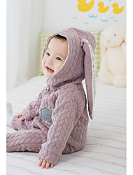 cheap -Baby Solid Color One-Pieces, Cotton Winter Blue Blushing Pink