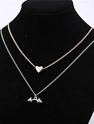 Недорогие -Жен. Форма игрушки Сердце Классический Мода Ожерелья с подвесками Сплав Ожерелья с подвесками , Повседневные