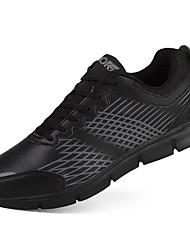 baratos -Homens sapatos Couro Ecológico / Courino Primavera / Outono Conforto Tênis Corrida Preto / Black / azul