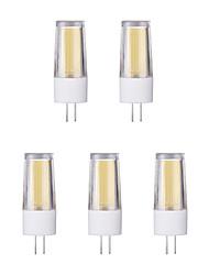 5pcs 3W G4 LED à Double Broches 1 diodes électroluminescentes COB Blanc Chaud Blanc Froid 230lm 65600/3500K AC 100-240V