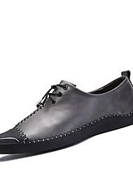 abordables -Homme Chaussures Cuir Automne / Hiver Chaussures de plongée / Confort Basket Noir / Gris / Noir / Rouge