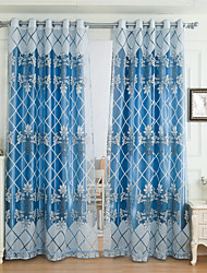 cheap -Blackout Curtains Drapes Living Room Pattern Embroidery