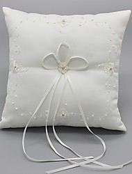 cheap -Ribbon Flower(s) Bow Satin Silk Ring Pillows Wedding Ceremony