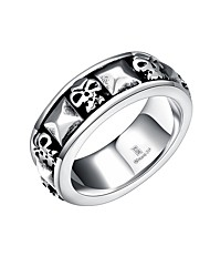 cheap -Men's Knuckle Ring Jewelry Punk Personalized Stainless Steel Alloy Geometric Skull Jewelry For Halloween Street