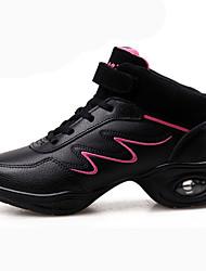 Недорогие -Для женщин Танцевальные кроссовки Телячья шерсть На плоской подошве Для открытой площадки Планка На плоской подошве Золотой Белый