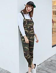 economico -Da donna A vita alta Casual Media elasticità Taglia piccola Tuta da lavoro Pantaloni,Camouflage Estate