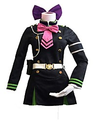 cheap -Inspired by Seraph of the End Cosplay Anime Cosplay Costumes Cosplay Suits Cartoon Vintage Long Sleeves Cravat Dresses Belt Headwear For