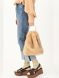 cheap -Women Bags Fur Shoulder Bag Feathers / Fur for Event/Party Shopping Winter Milky White Brown Light Grey