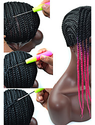 PANSY Easier Sew black Cornrow Braids Crochet Wig Caps For Making Full Lace Cap Size 52cm