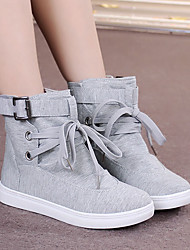 cheap -Women's Shoes Cotton Spring Fall Comfort Sneakers For Casual Gray Black