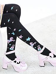 cheap -Women's Medium Stockings,Cotton 1set Black