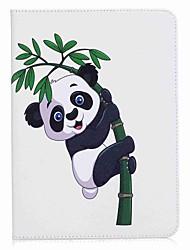 economico -panda e bambù portafoglio con portafoglio magnetico in cuoio per la scheda galassia samsung s3 wifi / lte t820 t825 9,7 pollici tablet pc